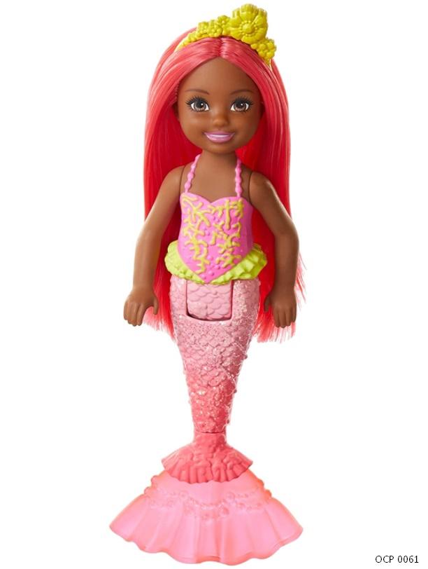 Boneca Barbie Dreamtopia Chelsea Sereia Cabelo e cauda coral - Mattel