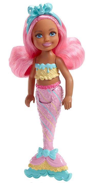Boneca Barbie Dreamtopia Chelsea - Sereia Reino Dos Doces