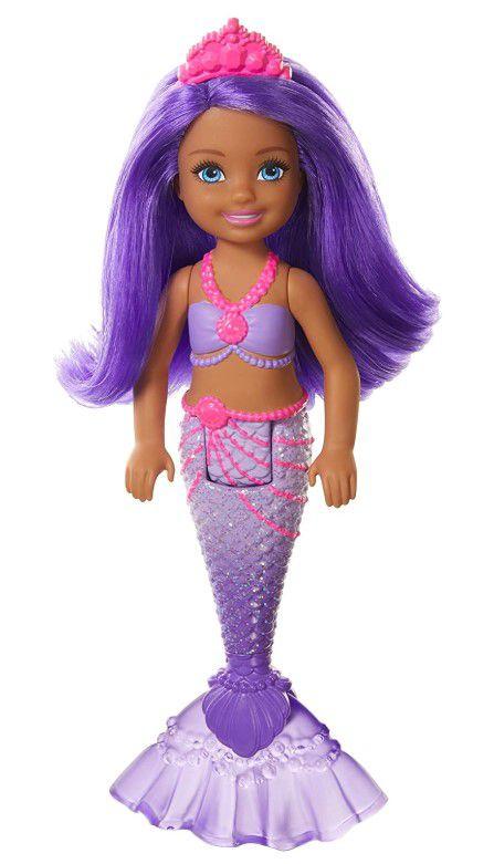 Boneca Barbie Dreamtopia Chelsea Sereia Roxo e Cabelos Roxo