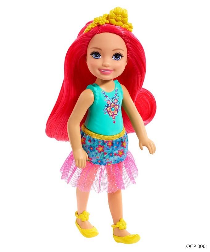Boneca Barbie Dreamtopia Chelsea Sprite Cabelo Rosa Neon Flores - Mattel