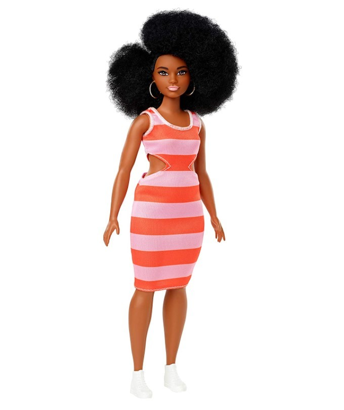 Boneca Barbie Fashionistas - 105  Vestido Listrado Curvy