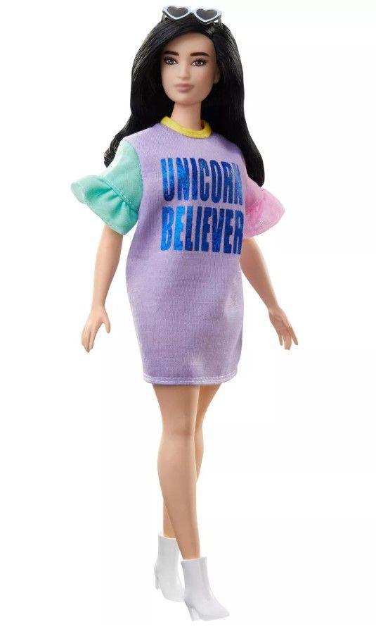Boneca Barbie Fashionistas # 127  Vestido Unicórnio Believer