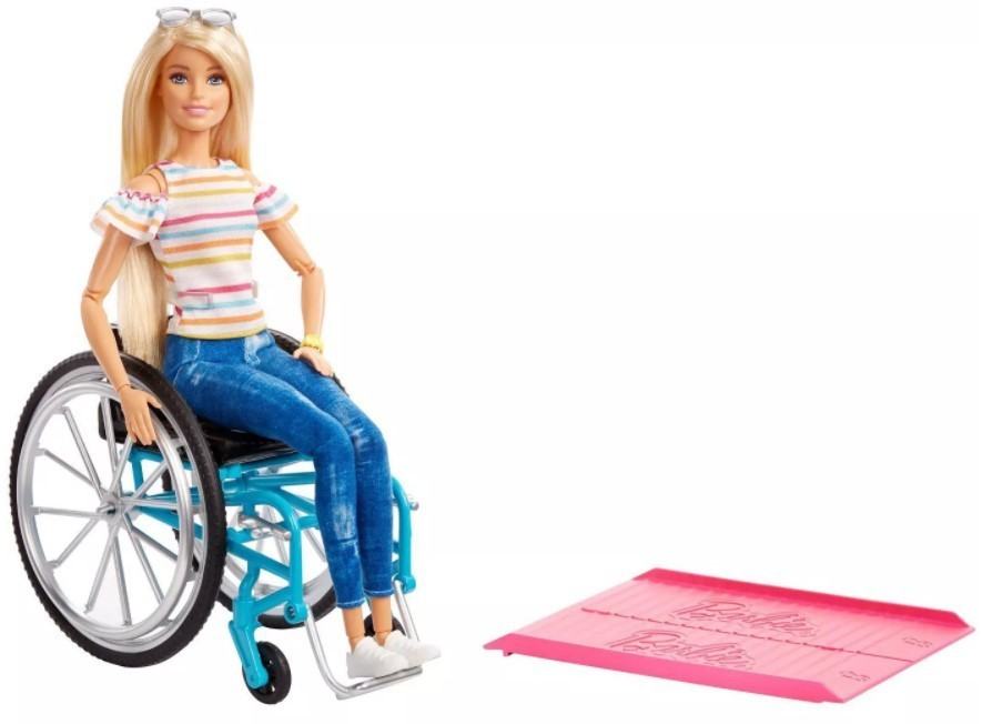 Boneca Barbie Fashionistas # 132 Cadeirante Loira To Move Articulada