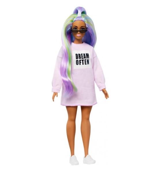 Boneca Barbie Fashionistas - 136 Cabelos longos de Arco-Íris
