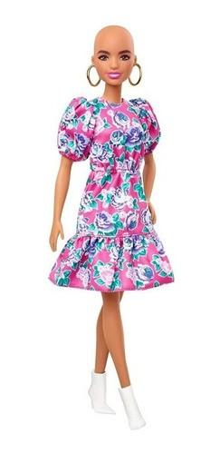 Boneca Barbie Fashionistas # 150 Sem Cabelos Vestido Floral Rosa