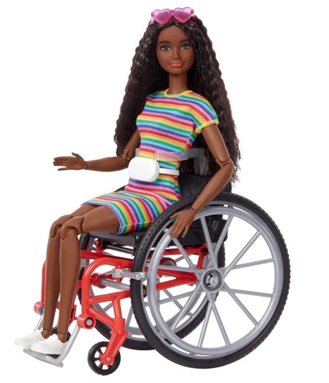 Boneca Barbie Fashionistas # 166 Cadeirante Cabelo Frisado To Move Articulada