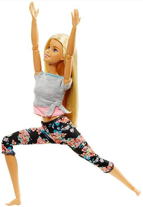 Boneca Barbie Feita para Mexer Yoga Loira - To Move Articulada