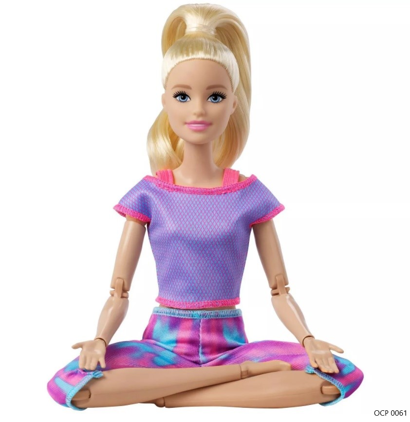 Boneca Barbie Feita para Mexer Loira To Move Articulada - Mattel