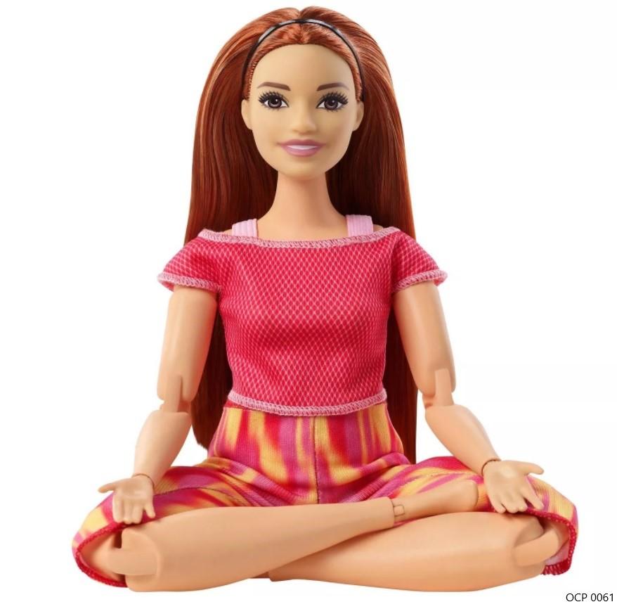 Boneca Barbie Feita para Mexer Ruiva To Move Articulada - Mattel