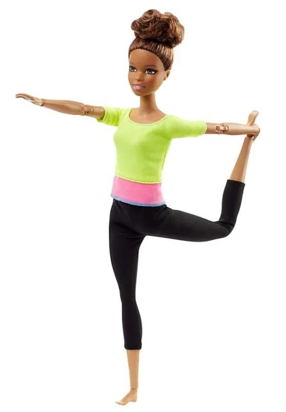 Boneca Barbie Feita para Mexer Top Amarelo - To Move Articulada