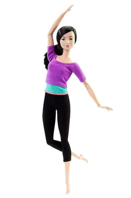 Boneca Barbie Feita para Mexer Top Roxo Mestiça - To Move Articulada
