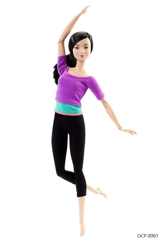 Boneca Barbie Feita para Mexer Top Roxo Mestiça To Move Articulada - Mattel