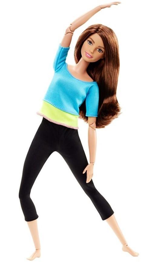 Boneca Barbie Feita para Mexer Top Turquesa Morena - To Move Articulada