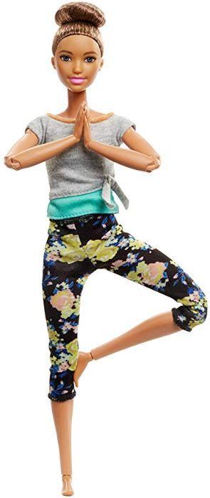Boneca Barbie Feita para Mexer - Yoga Morena Updo
