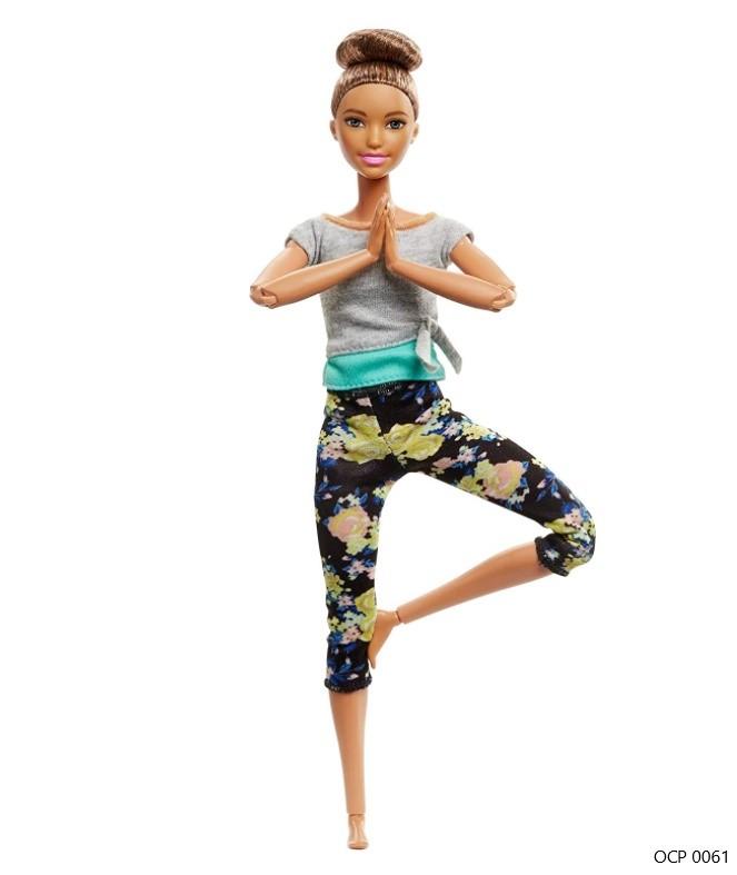 Boneca Barbie Feita para Mexer Yoga Morena Updo To Move Articulada - Mattel