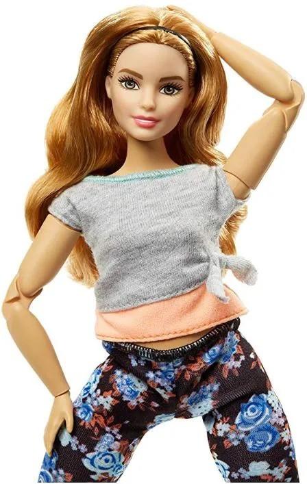 Boneca Barbie Feita para Mexer Yoga Ruiva - To Move Articulada