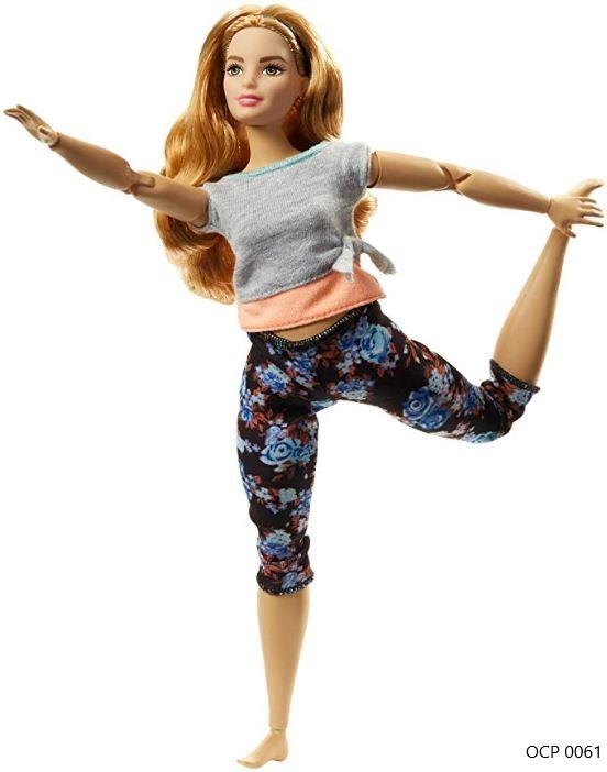 Boneca Barbie Feita para Mexer Yoga Ruiva To Move Articulada - Mattel