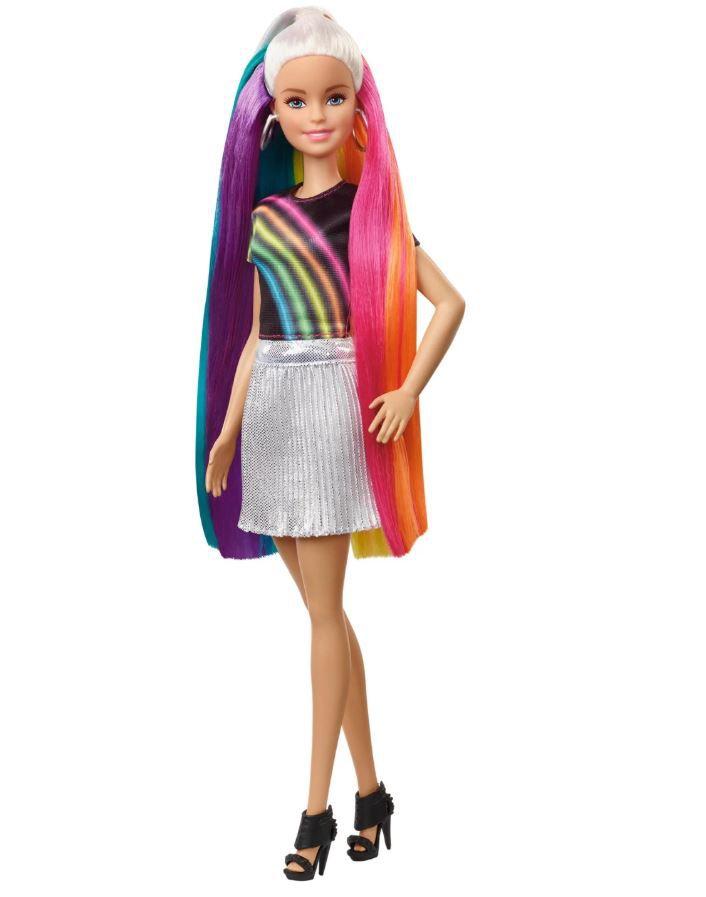 Barbie Penteados de Arco-Íris - Boneca Loira