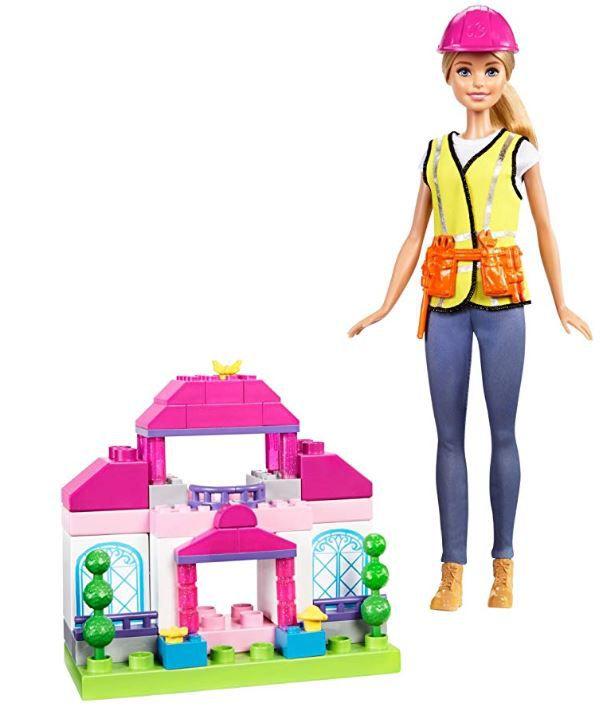 Boneca Barbie Profissões - Construtora Loira e Playset