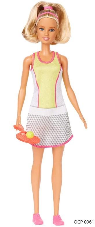 Boneca Barbie Profissões  Jogadora de Tênis Loira - Mattel
