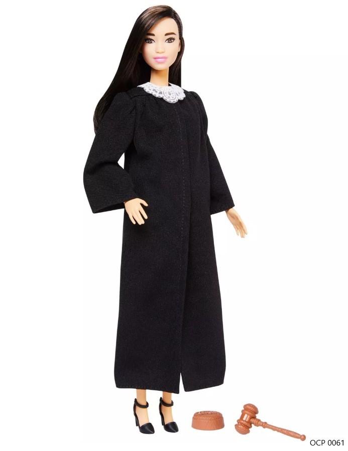 Boneca Barbie Profissões  Juíza Cabelo Preto - Mattel