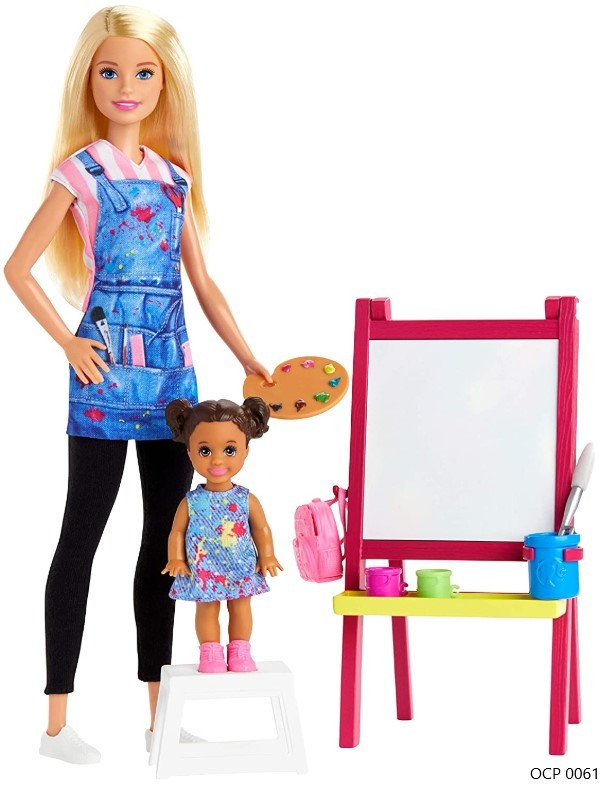 Boneca Barbie Profissões Professora de Artes Loira e Playset - Mattel