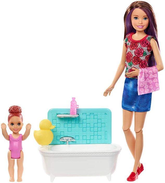 Boneca Barbie Skipper Babysitters - Hora do Banho & Playset