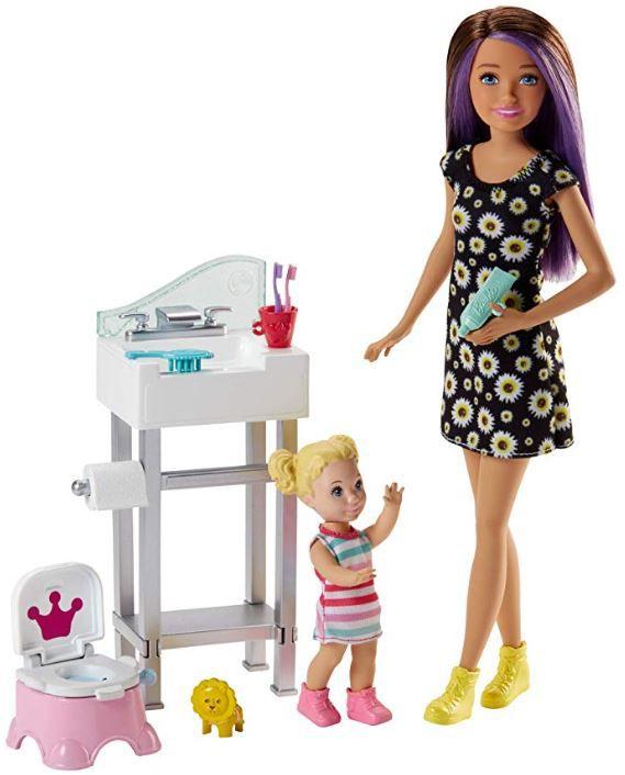 Boneca Barbie Skipper Babysitters - Treinamento & Playset