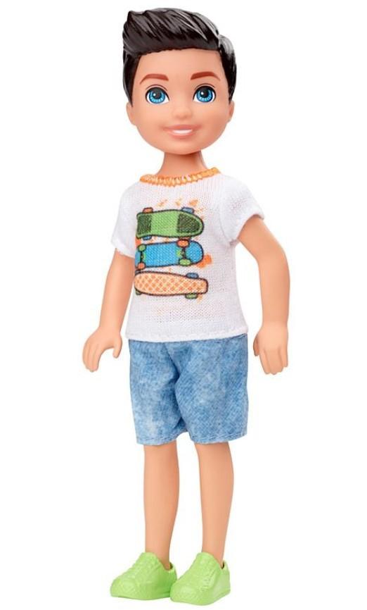 Boneco Barbie Club Chelsea Menino Cabelo Preto Skate