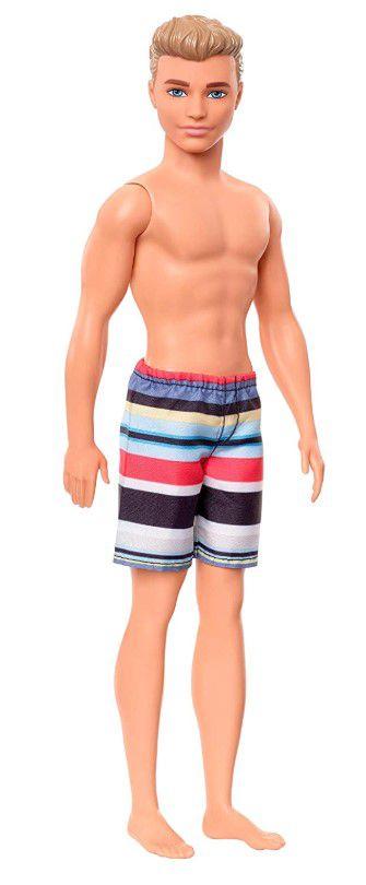 Boneco Ken Praia Piscina Shorts Listrado
