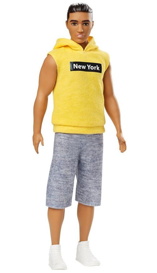 Boneco Ken Fashionistas - 131 Moleton Amarelo New York