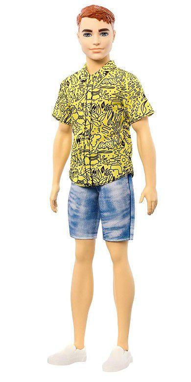 Boneco Ken Fashionistas - 139 Camisa Amarela Ruívo