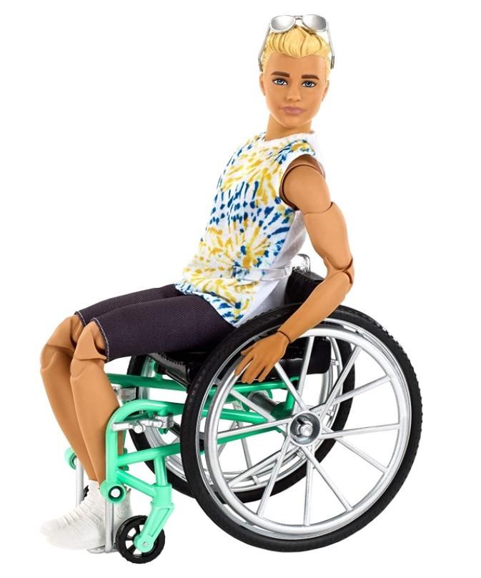 Boneco Ken  Fashionistas Cadeirante 167 Loiro Articulado - To Move
