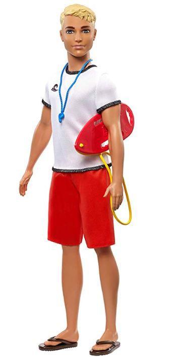 Boneco Ken Profissões - Salva-Vidas