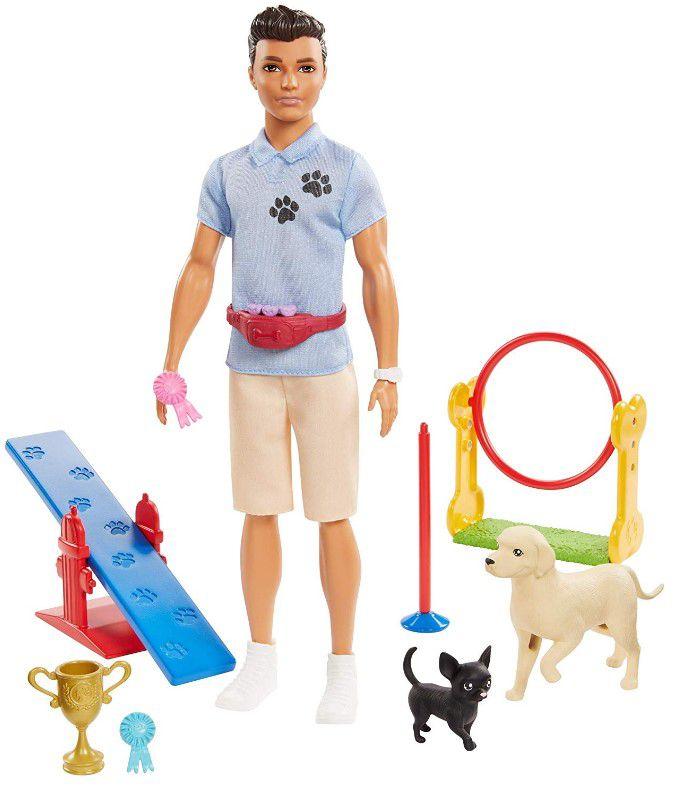 Boneco Ken Profissões - Treinador de Cães