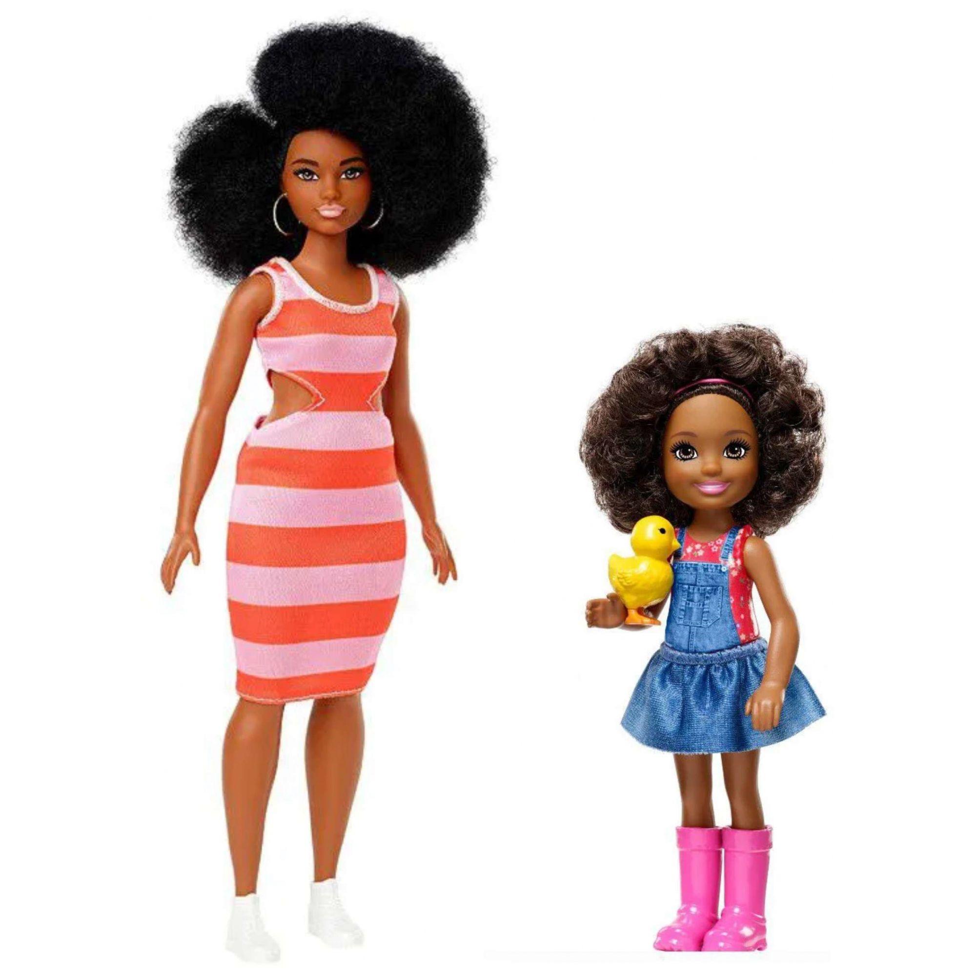 Conjunto Boneca Barbie Fashionistas e Chelsea Doce Pomar