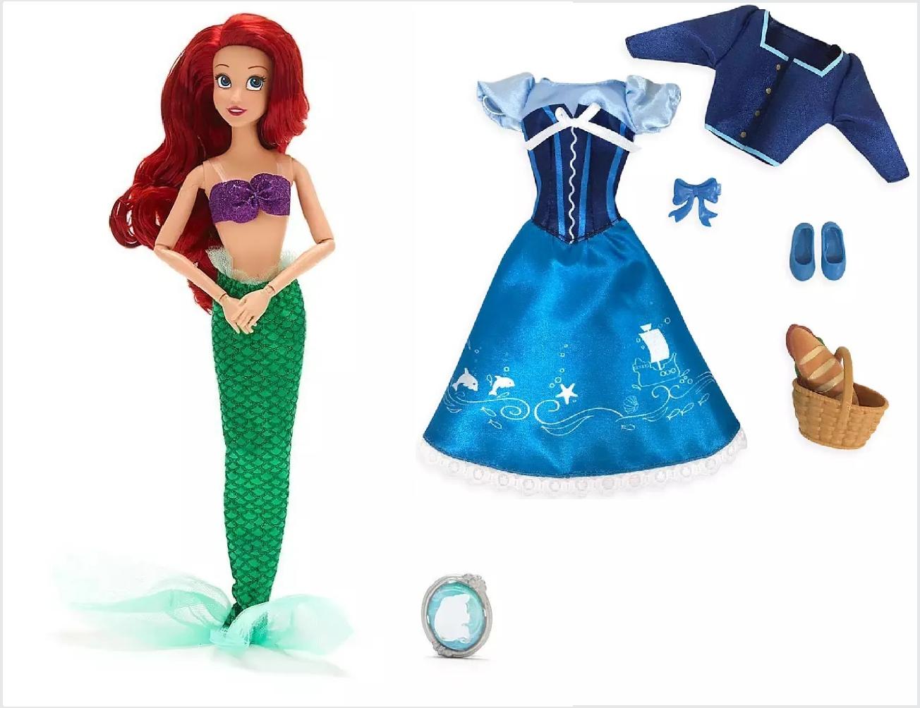 Conjunto de Boneca e Roupas da Princesa Ariel