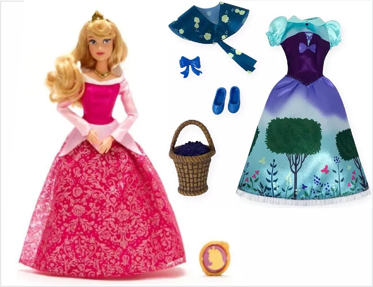 Conjunto de Boneca e Roupas da Princesa Aurora