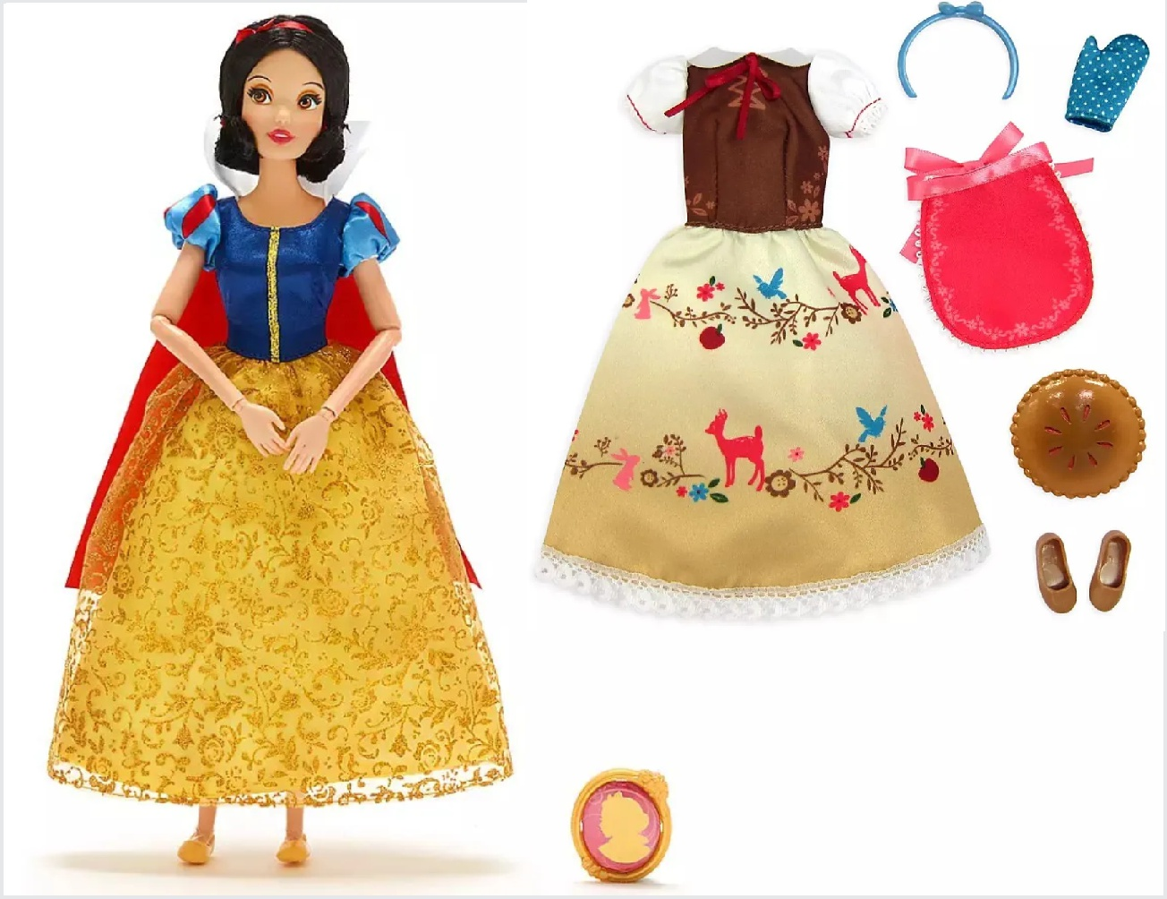 Conjunto de Boneca e Roupas da Princesa Branca de Neve
