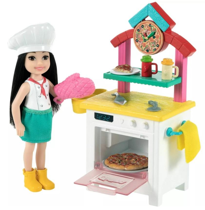Boneca Barbie Chelsea Profissões Pizzaria