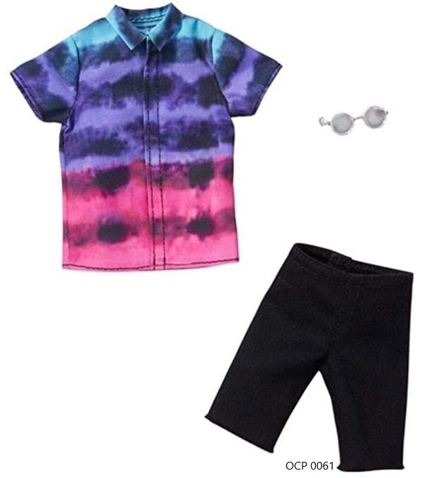 Ken Roupas e Acessórios Camisa Tie-Dye Bermuda Preta - Mattel