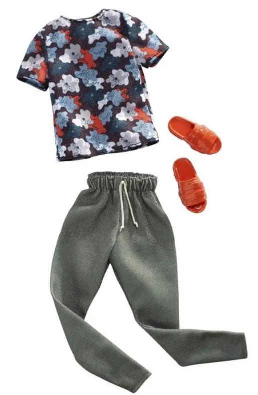 Ken Roupas e Acessórios - Camiseta Floral e Calça Moletom