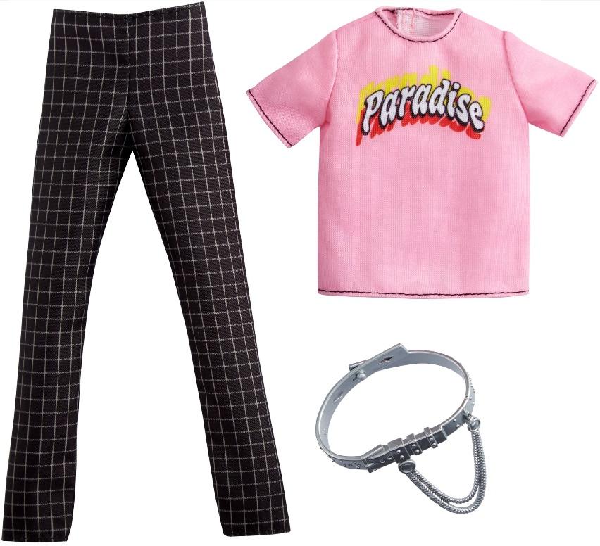Ken Roupas e Acessórios - Camiseta Paradise e Calça Xadrez