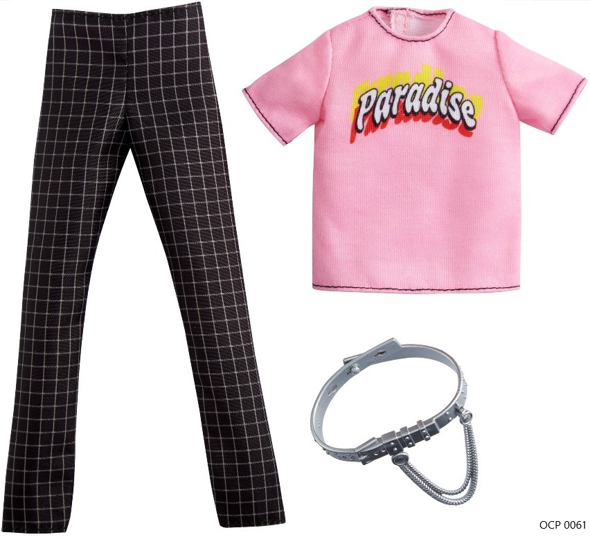 Ken Roupas e Acessórios Camiseta Paradise e Calça Xadrez - Mattel
