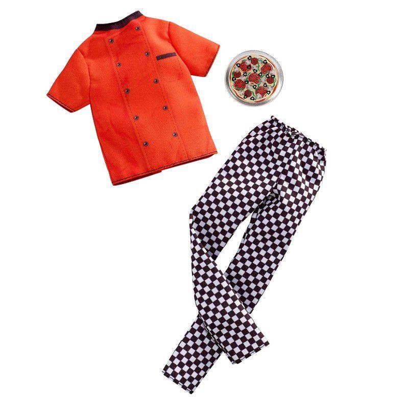 Ken Roupas e Acessórios - Conjunto Profissões Pizzaiolo
