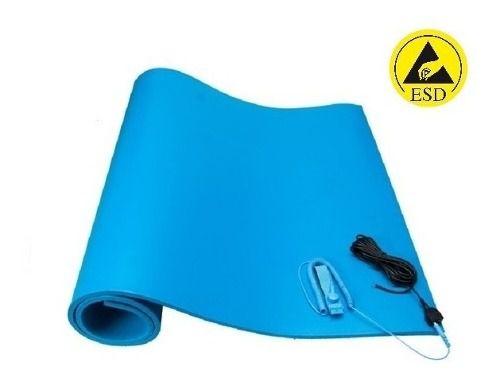 Kit Anti-estático Manta 0,80 X 0,40m Cabo + Pulseira Azul