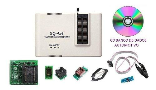 Kit Programador Automotivo Eprom Gq-4x V4 Psop44 Soic8 Pinça