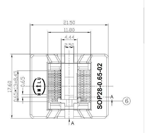 Adaptador Tssop8 Ssop8 Mini Soic Micro Soic8 Tssop 065