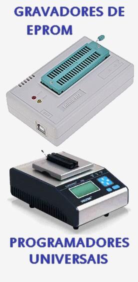 Clique para ver os equipamentos Gravadores de EPROM e Programadores Universais
