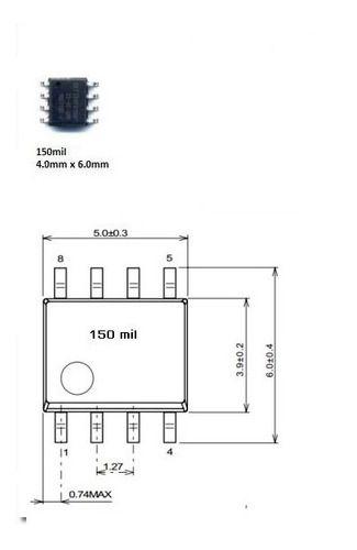 Adaptador Eprom Soic8 Dip8 150mil Série 93C e 24XX
